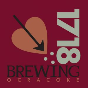 1718 Brewing Ocracoke_Logo, by Lonnie Busch, Crater Line Design