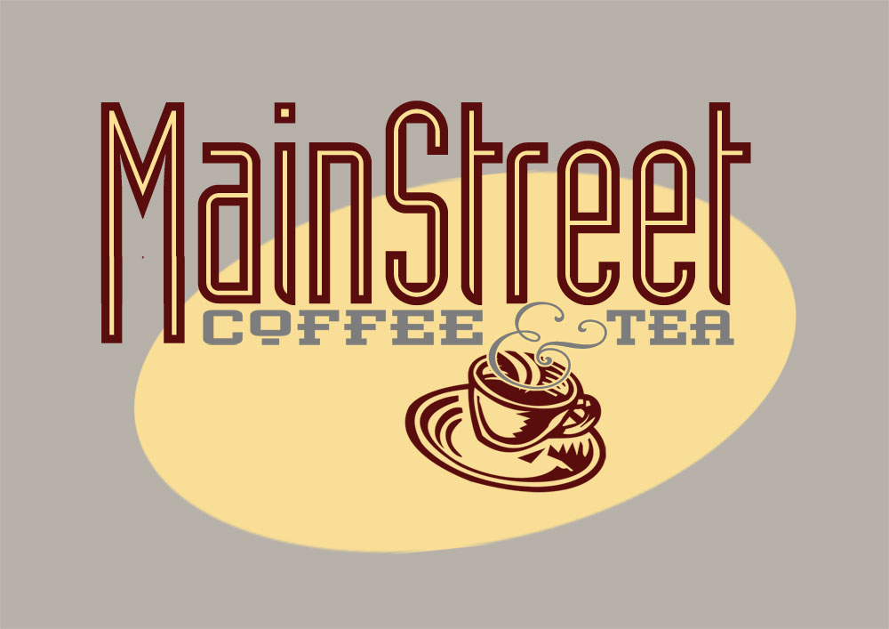 Mainstreet Coffee & Tea Logo_Franklin, NC_designed by Lonnie Busch