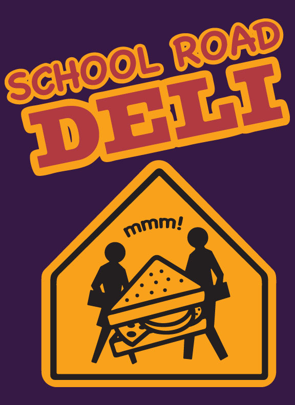 School Road Deli Logo_Ocracoke Island, NC_designed by Lonnie Busch