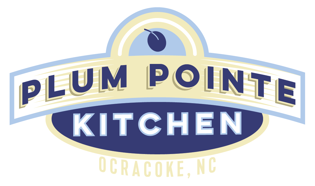 Plum Pointe Kitchen Logo_Ocracoke, NC_designed by Lonnie Busch
